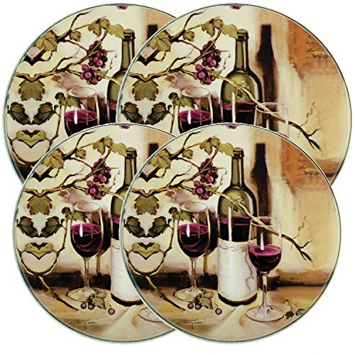 Ripe From the Vine Round Burner Covers by Range Kleen (Set of Four)