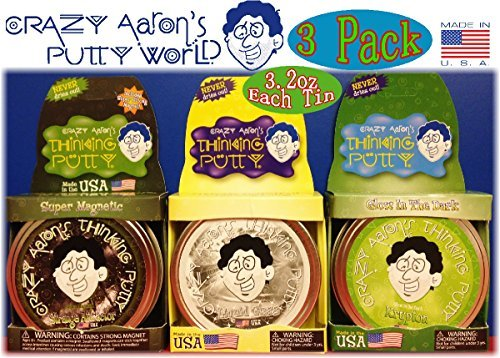 Crazy Aaron's Thinking Putty Strange Attractor, Liquid Glass & Krypton Bundle Gift Set - 3 Pack by Crazy Aaron's