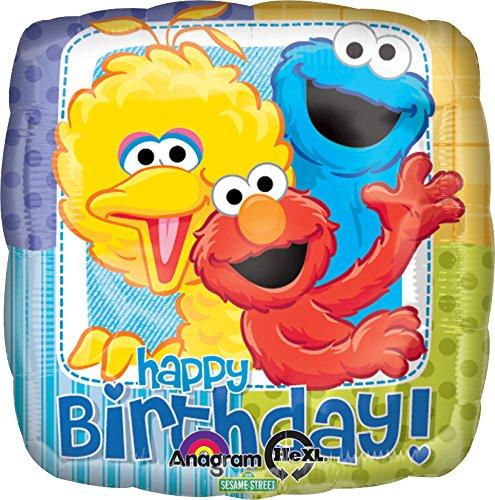 - Anagram International Sesame Street Birthday Foil Balloon Pack, Multicolor