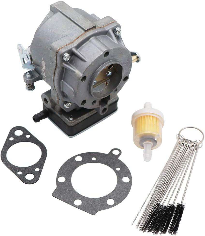 KIPA Carburetor for Brigg & Stratton 693480, Fits for 499306 495181 495026 491429 393297 Models Engines Mower, with Mounting Gasket & Carbon Dirt Jet Cleaner Tool Kit