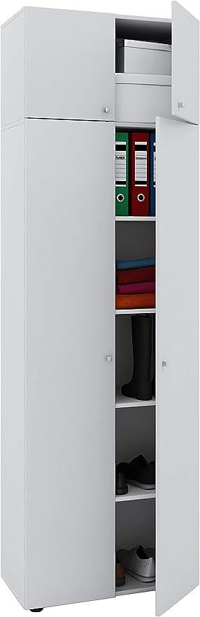 Vcm Schrank Universal Kleiderschrank Mehrzweckschrank Dielenschrank Weiss 218 X 70 X 40 Cm Vandol Auswahlmoglichkeiten Amazon De Kuche Haushalt
