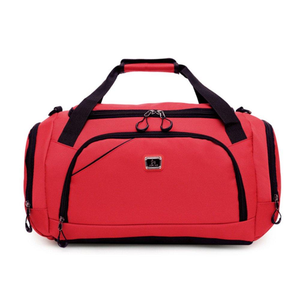 Breadaye Waterproof Men Sports Gym Bag Leisure Yoga Fitness Shoulder Bag Women Travel Handbag Training Duffle Bags Red