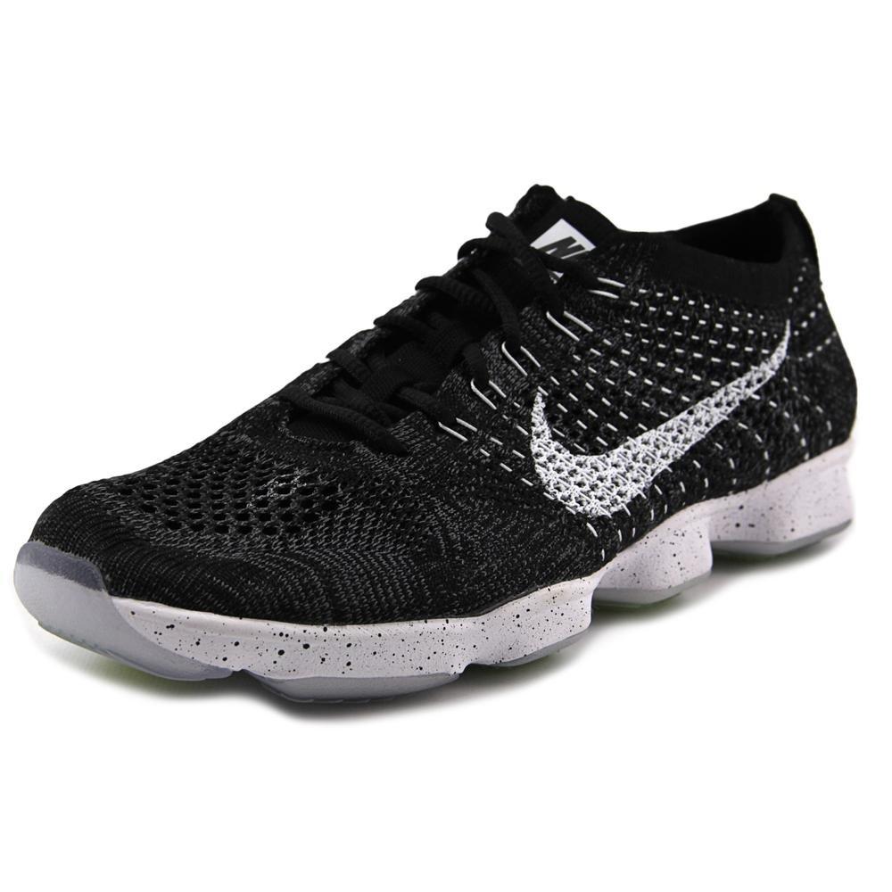 Nike Womens Flyknit Zoom Agility Black/White/Dark Grey/Volt Training Shoe (8.5)