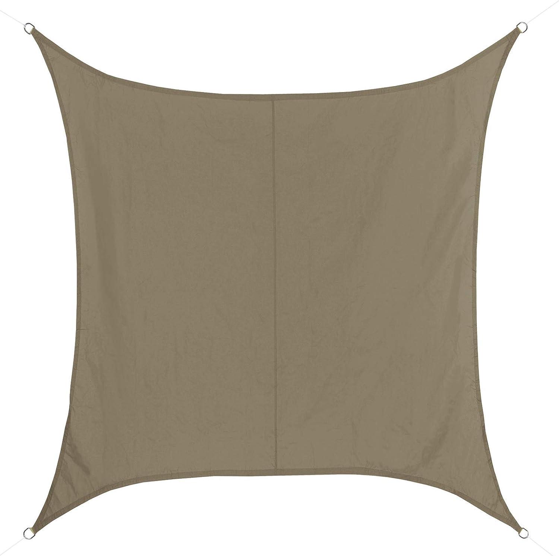 BB Sport Tenda Velo Sole 3m x 3m Cappuccino Quadrato Vela Sole Ombreggiante 100/% PES Protezione Solare UV 30 Parasole Giardino Esterni