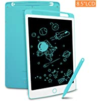 Richgv LCD Writing Tablet with Stylus, 8.5 Inch Digital Ewriter Electronic Graphic Drawing Tablet Erasable Portable Doodle Mini Board Memo Notepad for Kids Learning Toys Birthday Gifts (Blue)