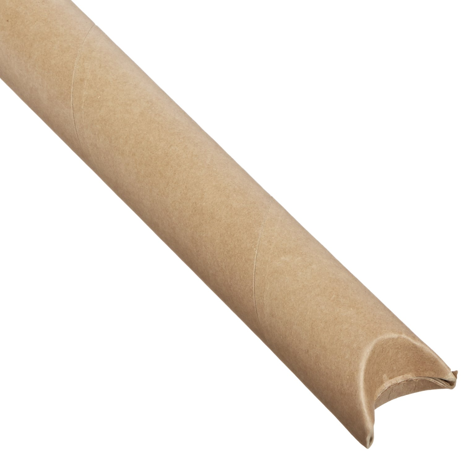 Aviditi S2012K Spiral Wound Fibreboard Crimped End Mailing Tube, 12-Inch Length X 2-Inch Width, 0.06-Inch Thick, Kraft (Case of 50)