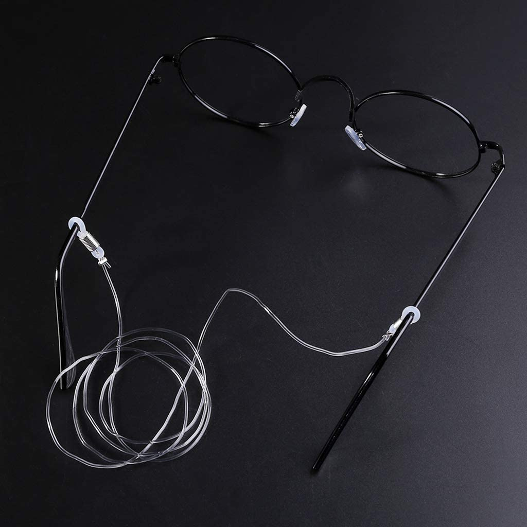 KOVIPGU Transparent Eyeglasses Anti Slip Strap Stretchy Neck Cord Outdoor Sports Eyewear String Sunglasses Rope Band Holder