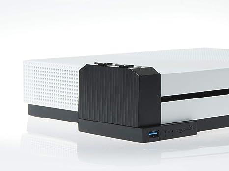 AmazonBasics - Ladegerät für Controller-Akkus (für die Xbox One S), Schwarz