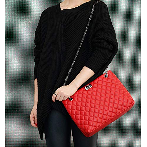 Red Red Hobo Bags Black Bag Mini for Quilted Strap Lingge Leather DCRYWRX Handbags Chain Chain Metal Women Purse PU Shoulder HngwSqU
