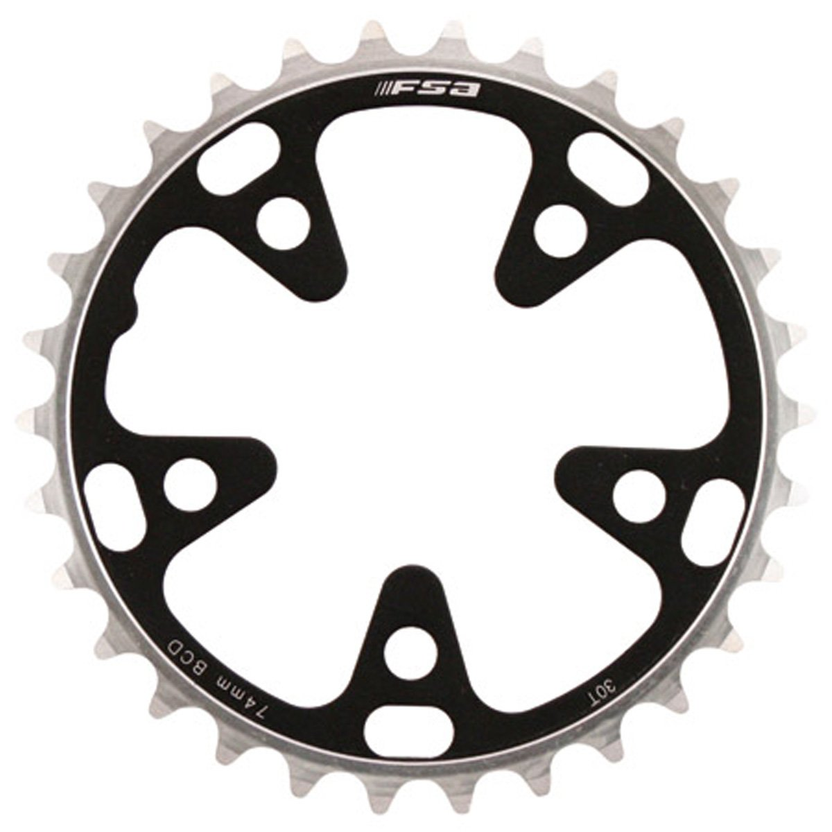 Full Speed Ahead FSA Pro Road Bicycle Chainring - 74 x 30T S9-10 - 370-0330E