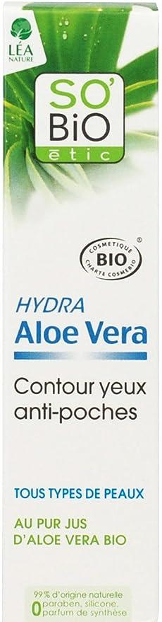 SoBio ETIC contorno de ojos anti-bolsas de Aloe Vera 15 ml