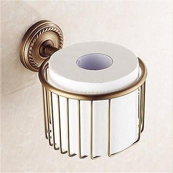 Latón Antiguo el baño de Flores envasadas Retro Europeo Accesorios para Rack de Toallas de baño Toallas, Papel higiénico, Adornos de Hardware Cesta: ...