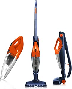 ORFELD Cordless Vacuum, Stick Vacuum 4 in 1, Lightweight Upright Vacuum Cleaner, Handheld, Portable, Rechargeable Li-ion Battery for Hardwood Floor Carpet Pet Hair Car, up to 40 Min.Runtime,Small