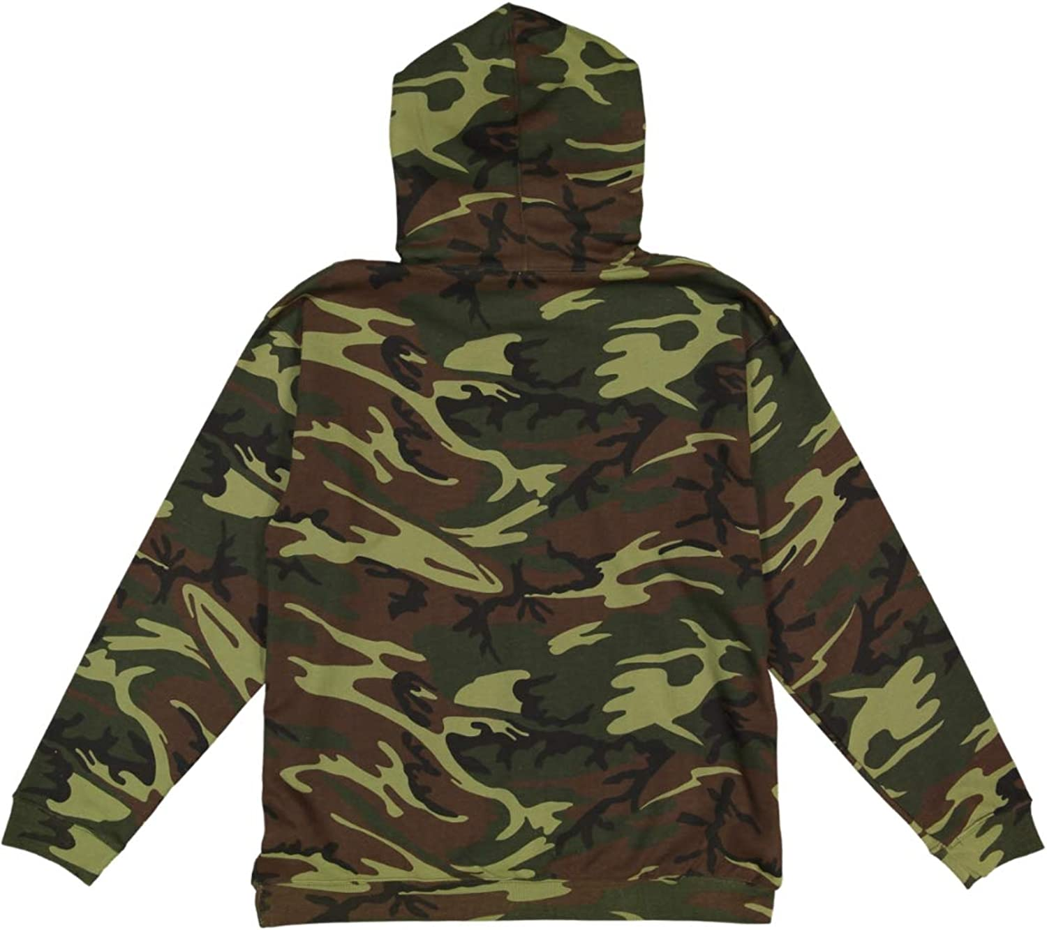 Code Five Mens Camouflage Fleece Long Sleeve Pullover Hooded Sweatshirt with Drawstring