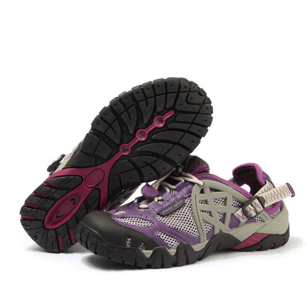 RBB Outdoor-Schuhe Atmungsaktive Bequeme Atmungsaktive Outdoor-Schuhe Mesh Openwork Paar Outdoor-Schuhe Bequem Einen Fuß Gesetzt Fuß Herrenschuhe,Lila,39 8a5ad3