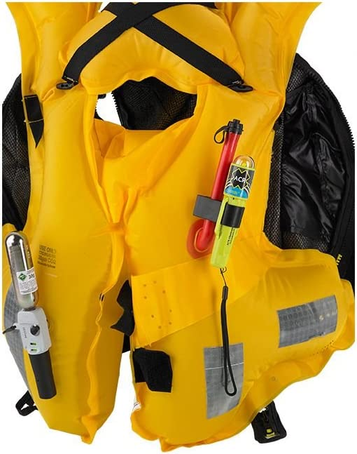 USCG water-activated LED Life Jacket Emergency Signal w//Clip Needs AA Batteries Card ACR C-Strobe H2O SOLAS