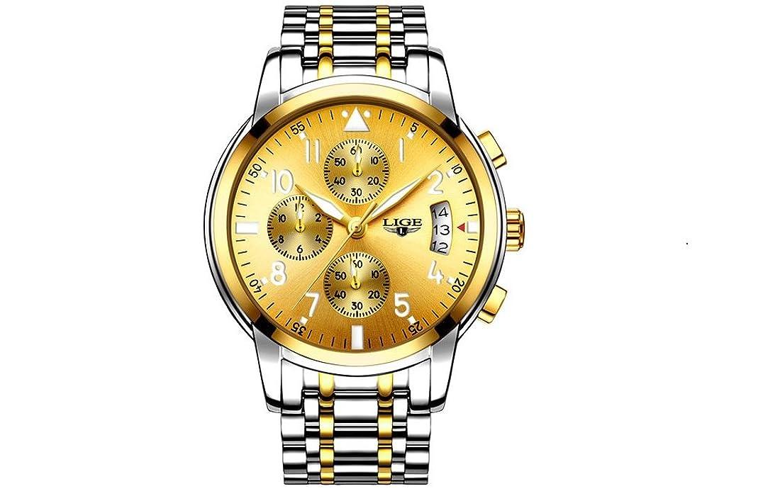 Amazon.com: Relojes de Hombre Cronógrafo De Cuarzo De Moda Para Caballero Movimiento Suizo Caja de Acero Inoxidable 2017 Nueva Colección …: Watches