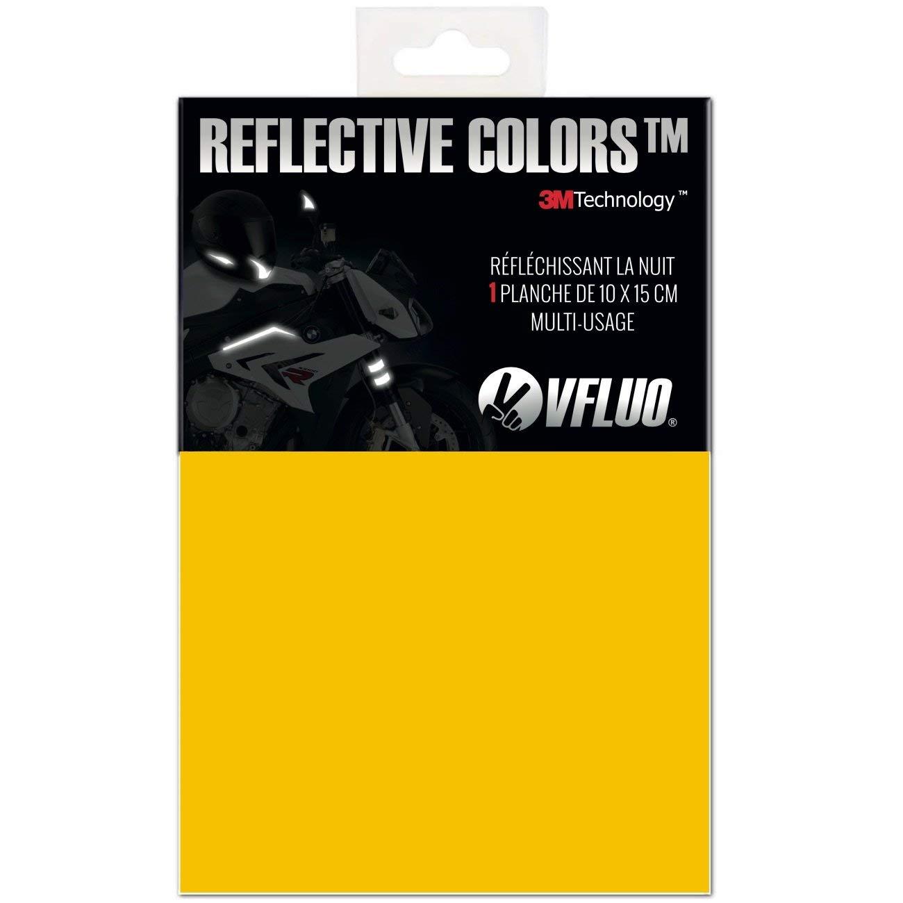 Kit adesivo universaleFai da te per Casco//Moto//Motorino//Bicicletta 3M Technology/™ VFLUO 3M REFLECTIVE COLORS/™ Oro 10 x 15 cm foglio