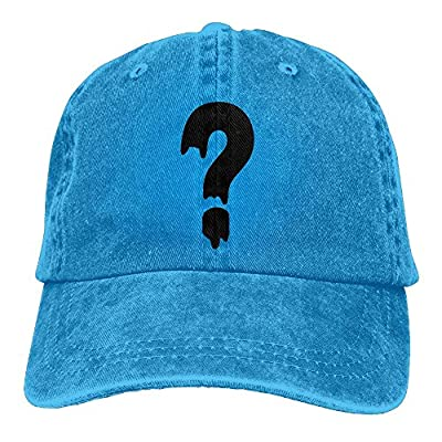 BGSSSLN Unisex question Mark Adjustable Denim Cap Baseball Cap