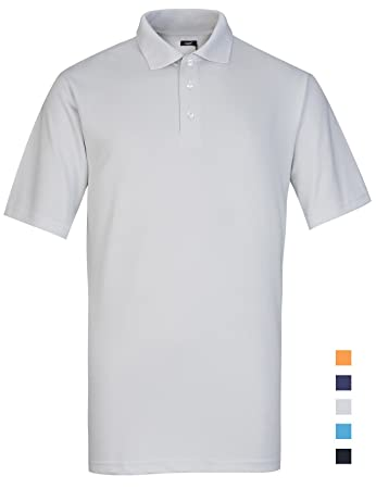 25f5bf5182ee Lesmart Herren Tennis Poloshirt Kurzarm Funcktions Coole Performance Große  XXXL Grau