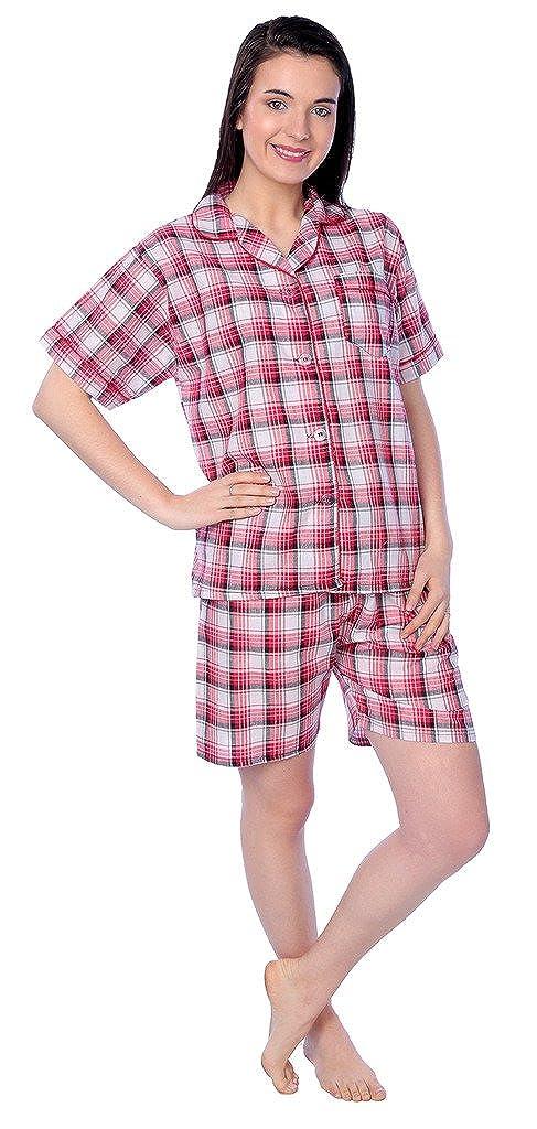 Beverly Rock Women's Cotton Woven Short Sleeve Short Leg Pajama Set