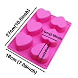 BAKER DEPOT 6 Holes Heart Shaped Silicone Mold
