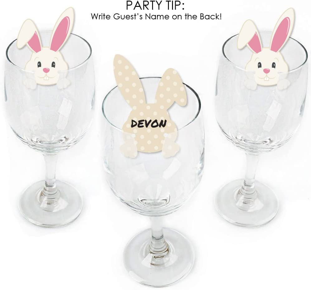 Set of 24 Wine Charms Plastic Glass Hanger Animals Cocktail Cup Markers
