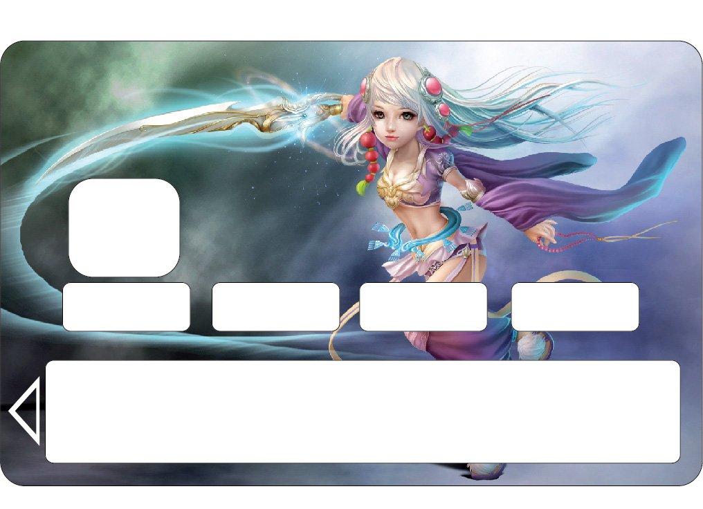 StickersNews Adesivi Skin Scheda bancario CB, Carta Blu Manga RIF 1105