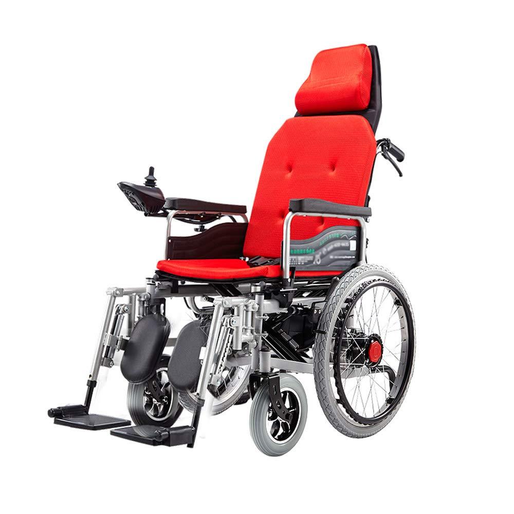 2019超人気 電動車いす、高齢者用車いす 簡単な操作、四輪車椅子、折りたたみリクライニング、荷重100kg、EPBSブレーキシステム 簡単な操作 Red (色 : B07GLN5ZFZ Red) Red B07GLN5ZFZ, ハピネスセレクトショップ:fc8ebcc2 --- a0267596.xsph.ru