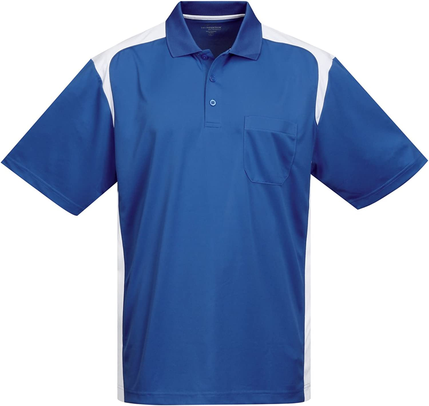 Tri-Mountain Performance Mens K145P Blitz Pocket S//S Polo Shirt