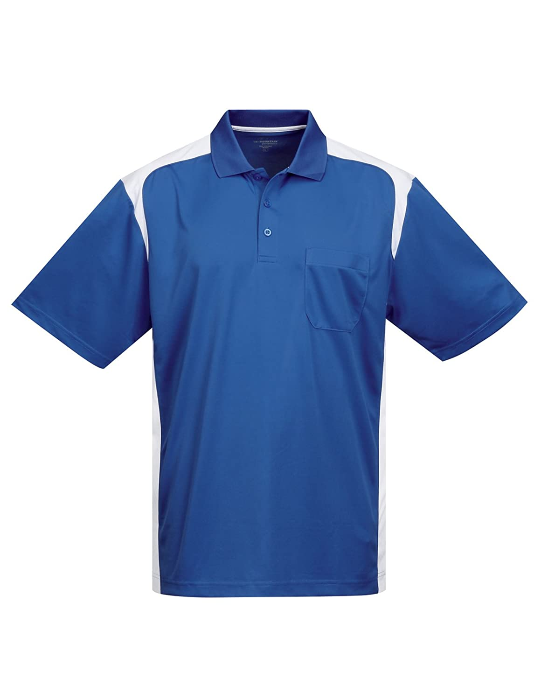 Tri-Mountain Performance Mens K145P Blitz Pocket S//S Polo Shirt