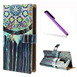 LG G3 Case , EMAXELER Printed Fantastic Romantic Colorful Pretty Cute Commuter Magnetic PU Leather Flip Protective Cover with Stand for LG G3 - Colorful Wheel