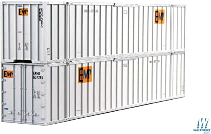 """Walthers HO 40/' Hi-Cube Rib Side Container /""""K/"""" Line #949-8203 New in Package"""