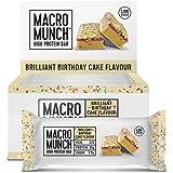 BULK POWDERS Macro Munch Protein Bar, Birthday Cake, 62 g, Pack of 12