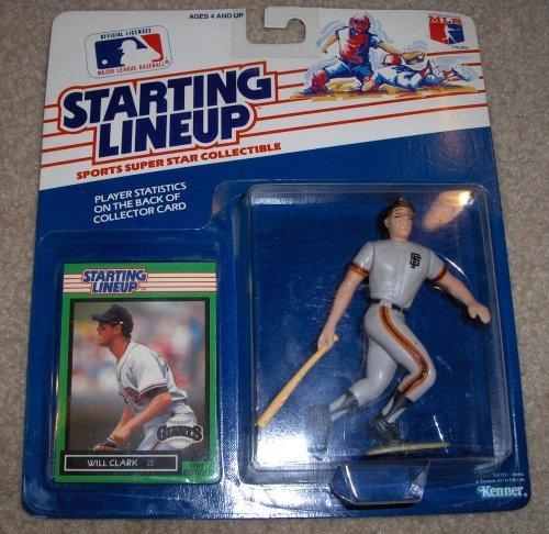 1989 Will Clark MLB Starting Lineup - Clark Mlb Will