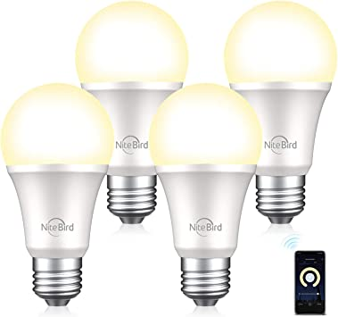 A19 75W Equivalent Dimmable Led Smart Bulbs Work With Smart Wifi Led Light Bulb