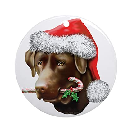 CafePress - Chocolate Lab Christmas Ornament (Round) - Round Holiday Christmas  Ornament - Amazon.com: CafePress - Chocolate Lab Christmas Ornament (Round