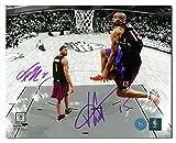 Vince Carter & Tracy McGrady Toronto Raptors Dual Signed Slam Dunk 8x10 Photo