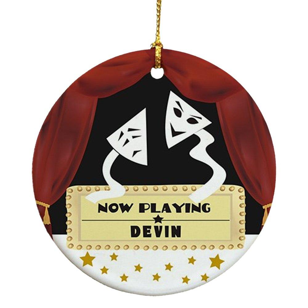 Amazon: Giftsforyounow Drama Mask Personalized Ornament, Ceramic: Home  & Kitchen