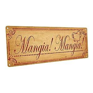 Mangia, Mangia Metal Sign, Italian, Country Decor, Kitchen Decor
