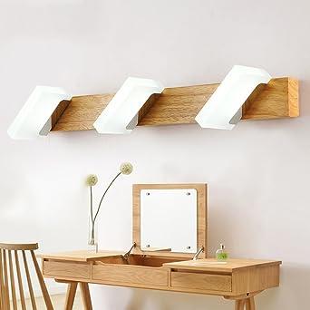 Spiegelfrontlicht Moderne Massivholz LED Spiegel vorne ...