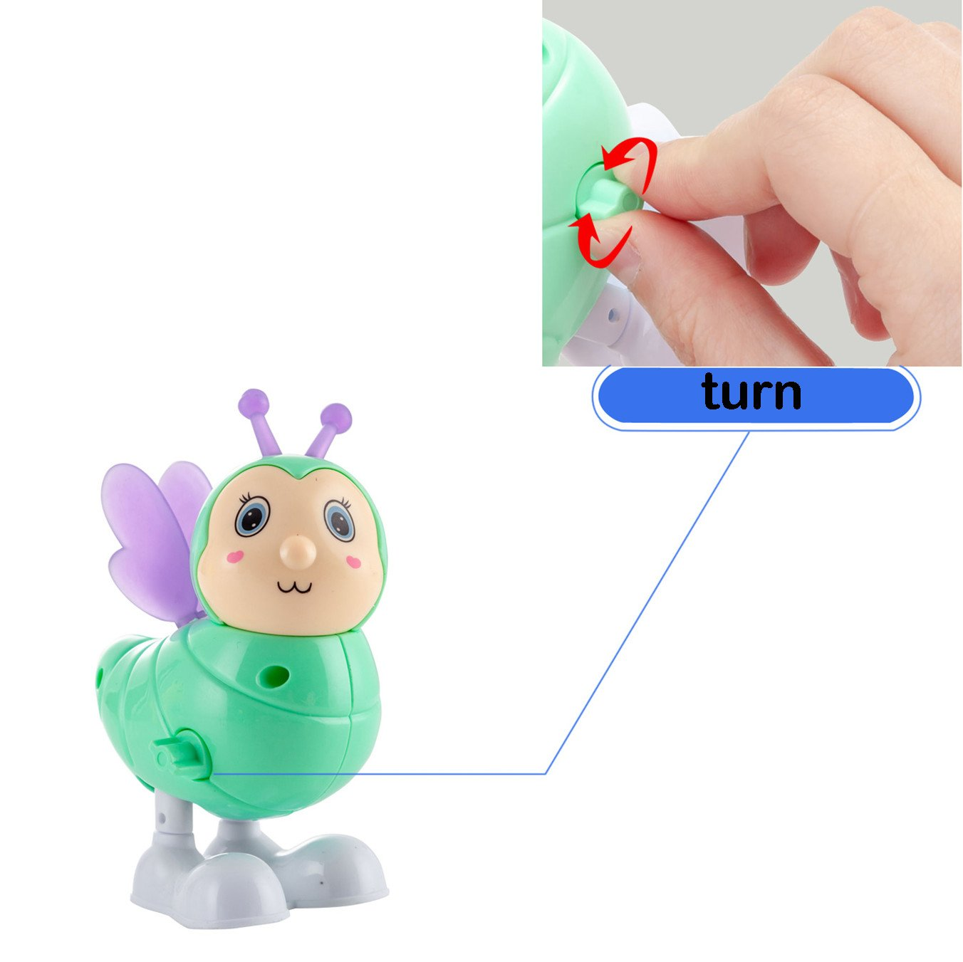 Clockwork Toy Cartoon Animal Educational Toys for Kids Boys Girls Toddlers Birthday Party Bags 6Pcs Wind Up Toys Gifts Novelty Prizes Goody Bags Party Favors Shallylu
