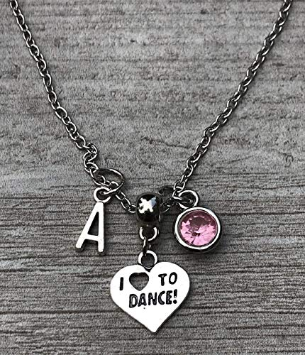 (Personalized Dance Necklace, Dance Jewelry, Ballet Necklace, Perfect Gift For Dancers, Dance Recitals, Dance Teams & Dance Teachers)