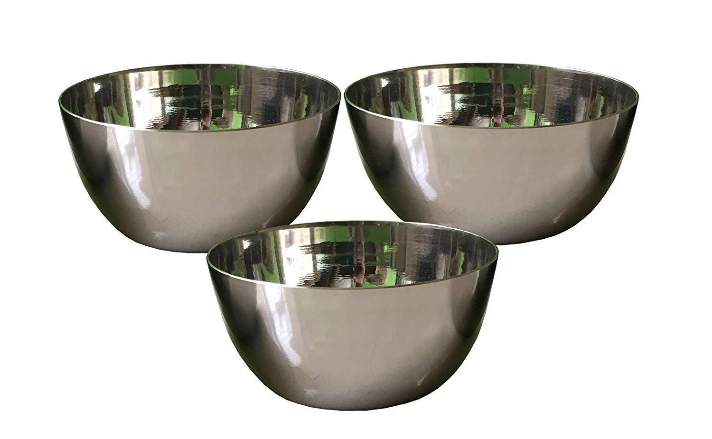 Steel bowl,Stainless Steel Vati,l, Katori, set of 3pcs,steel bowl for cookingStainless Steel Mixing Bowls Set of 3 for Cooking, Baking, Meal.