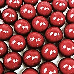 Red Gumballs - 2 Pound Bags - Large - One Inch in Diameter - About 120 Gumballs Per Bag - Free How To Build a Candy Buffet Guide Included ...