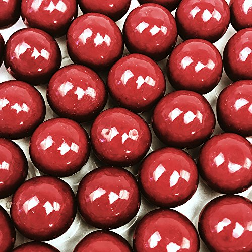 Red Gumballs - 2 Pound Bags - Large - One Inch in Diameter - About 120 Gumballs Per Bag - Free How To Build a Candy Buffet Guide -