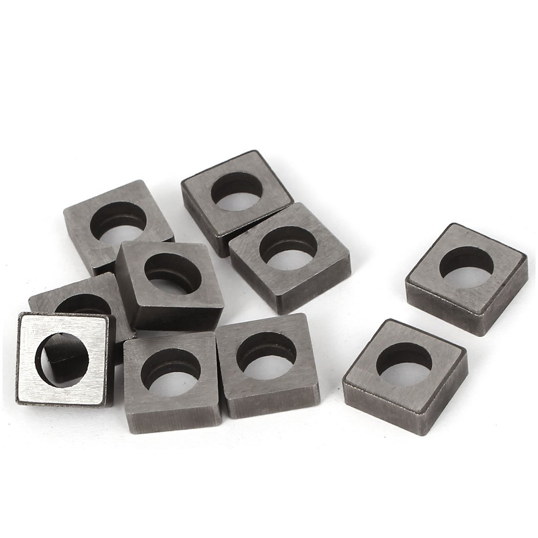 uxcell Square Shape Carbide Insert Cutter MS1204 10 Pcs for Woodturning Tools a16010500ux0261