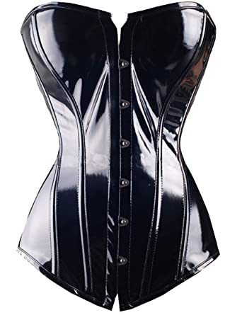 ffa281db4bb DODOING PVC Steel Boned Short Underbust Corset Heavy Duty Waist Training  Cincher Bustier Top