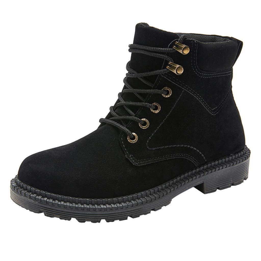 Shusuen Classic Military Jungle Boots Work Boots Wedge Soft Toe Light Weight Black by Shusuen