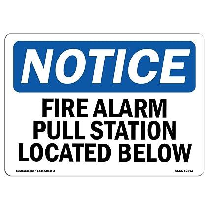 Señal de advertencia de Osha - Alarma de fuego estación de ...